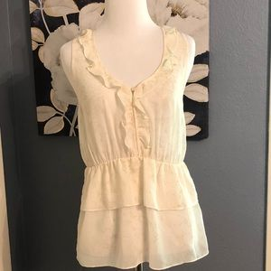 Banana Republic Sheer Sleeveless Blouse🌸
